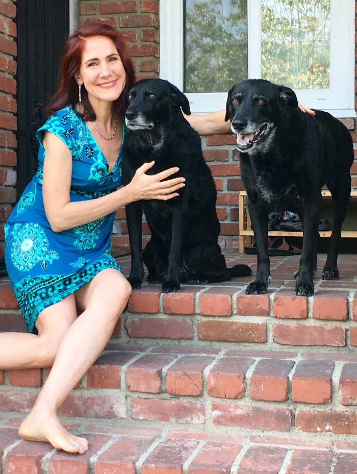Photo of my doggies and me.