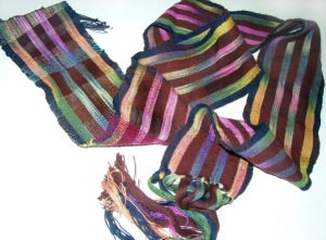 Woven and natural dyed ikot by Daal