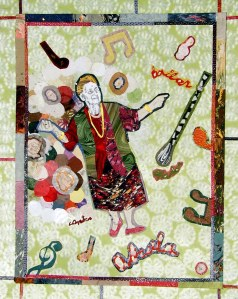 Abuela fine art paper collage by Daal