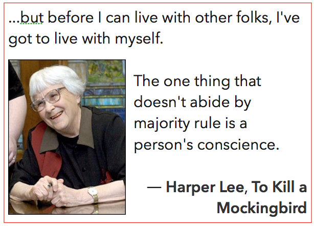 Harper Lee quote about challenge