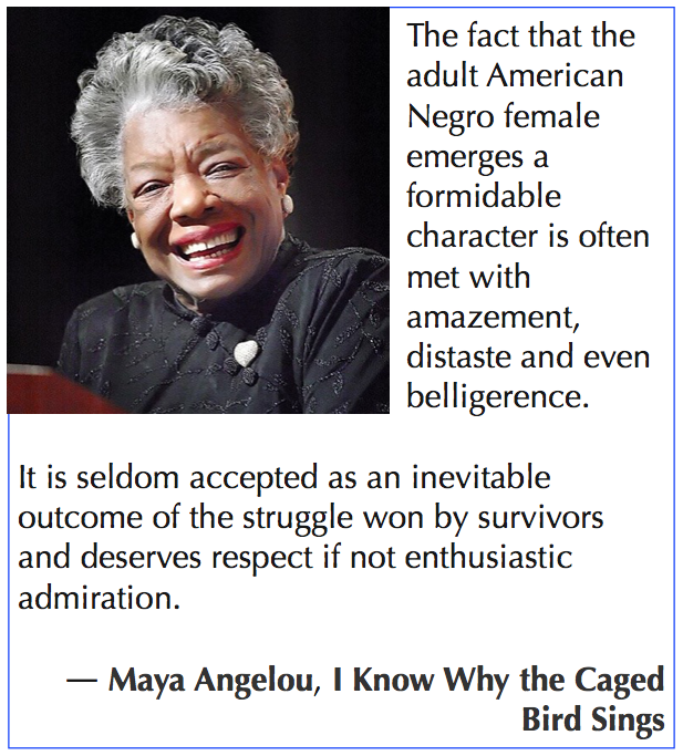 Maya Angelou quote about challenge