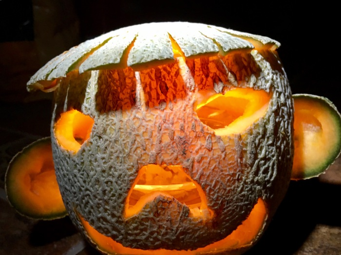 What do you think this is made of? Hint: it's not your average Jack-o'-lantern.