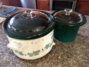 Crock Pots I use for bread and panettone