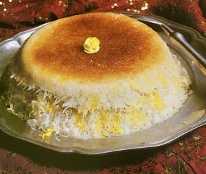 Persian 'tadig,' crunchy rice.