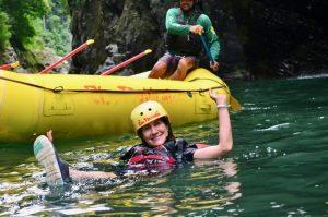 Swimming Pacuare River, Costa Rica.