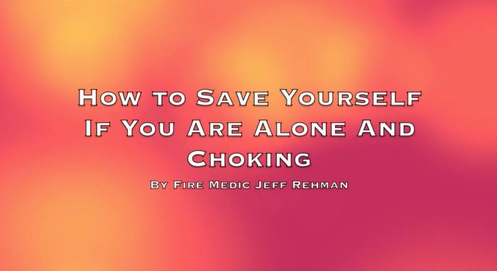 Choking Help Video Screen Shot