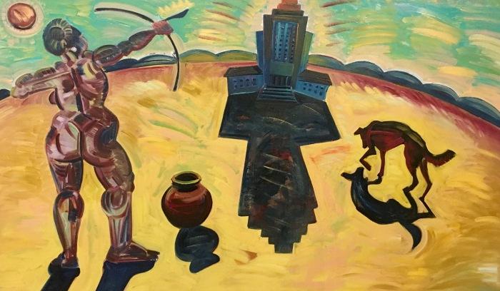 A woman shaman by Frank Romero.