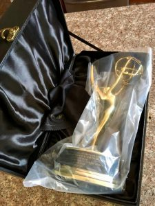 My new replacement Emmy Award all boxed up