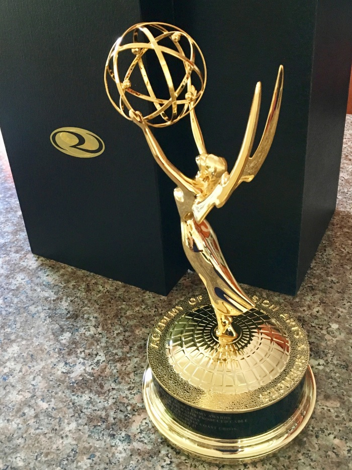 My new replacement Emmy Award