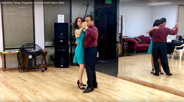 My and my honey dancing Argentine Tango Elegante
