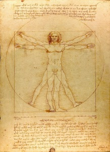 The Vitruvian Man (c. 1485) Accademia, Venice, by Leonardo da Vinci. Photo by Luc Viatour / https://Lucnix.be