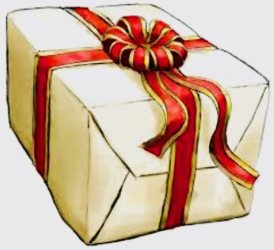 Drawing of a wrapped present