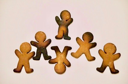 burnt gingermen cookies