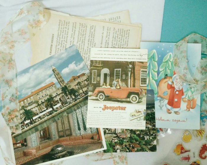 Photo of fronts of postcards