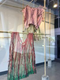 Bravura window display at Cerritos College Art Department.