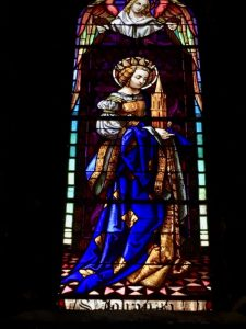 stained glass at church in France