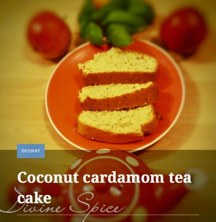 Coconut cardamon tea cake by Devine Spice