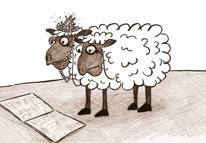 Have you ever seen a Posh-Me-Posh-Ewe animal before? (From Mr. Wolf's forthcoming children's book: Mr. Zumpo's Amazing Zoo of Unusual Animals.)
