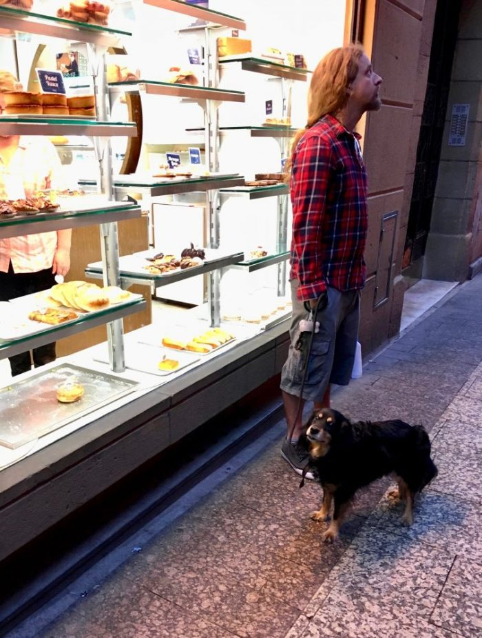 Dog at the bakery