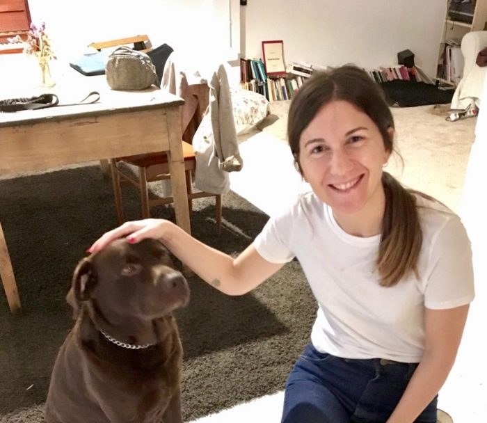 Airbnb hostess Itzi and her dog