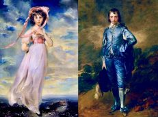 Pinkie by Thomas Lawrence and The Blue Boy by Thomas Gainsborough at The Huntinton