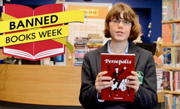 Persepolis is discussed by a UK teen on youtube video about Banned Book Week.