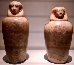 Canopic jars (Egypt approx. 1550-1069BC)