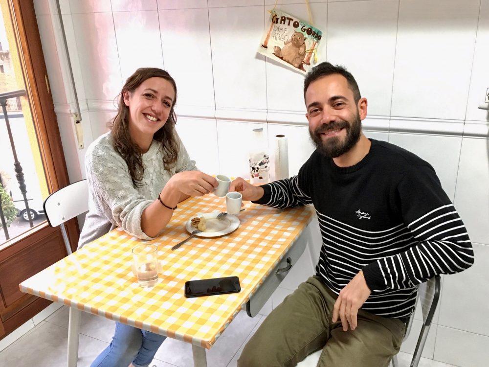 Photo of hosts Marco Tsitselis and Mariu Alvarez Garcia.