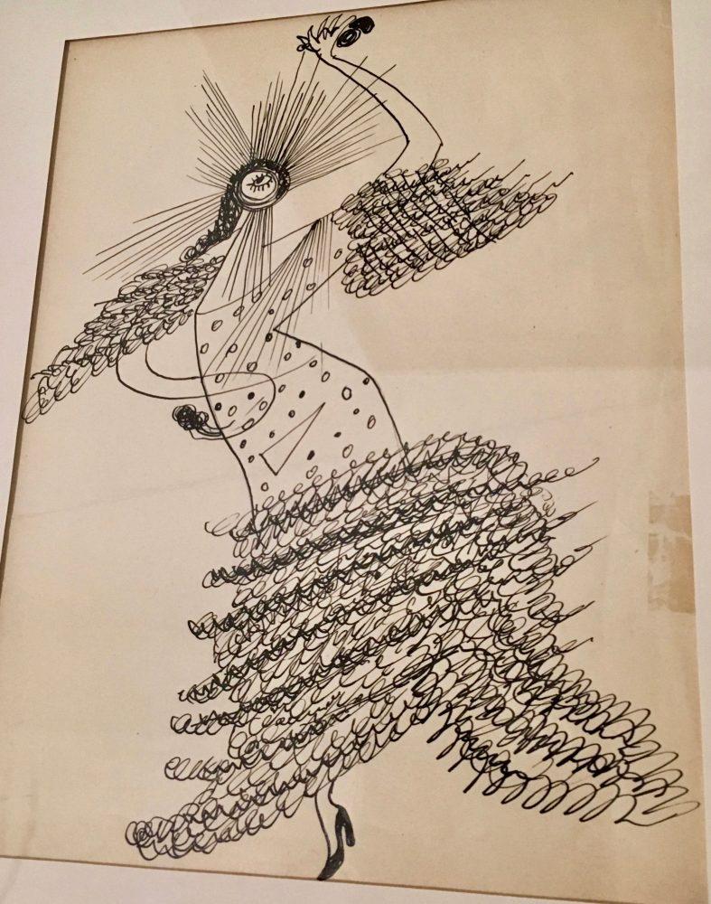 """Bailaora (Flamenco Dancer)"" 1945 by Enrique Herreros"