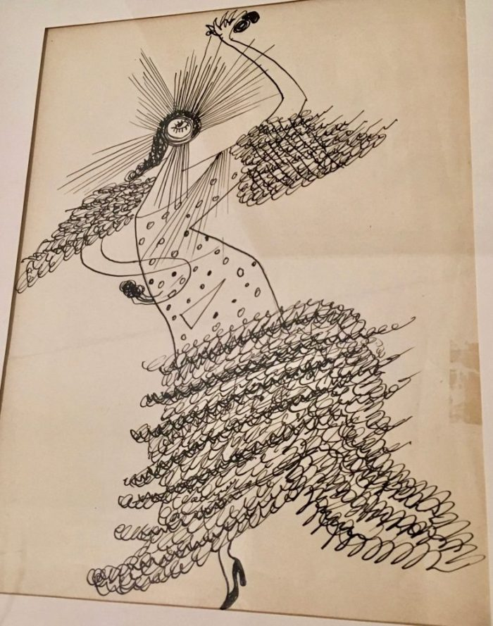 """Bailaora (Flamenco Dancer)"" 1945 by Enrique Herreros"
