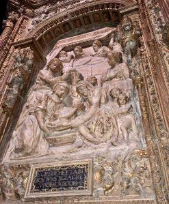 Photo of art within Santa María de León Cathedral.