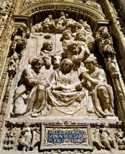Photo of art within Santa María de León Cathedral.
