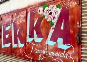Political graffiti in Madrid, Spain.