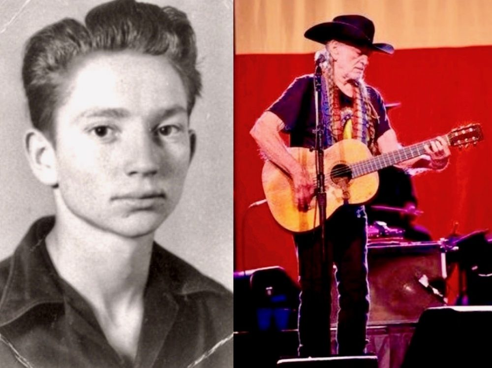 (Left) Nelson, 1949, high school (Right) Nelson, 2016, Topeka, Kansas
