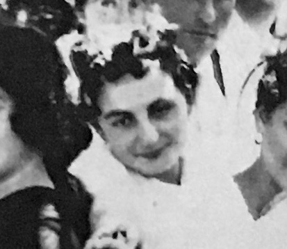 Close-up of my grandmother, 1919 New Year's celebration.