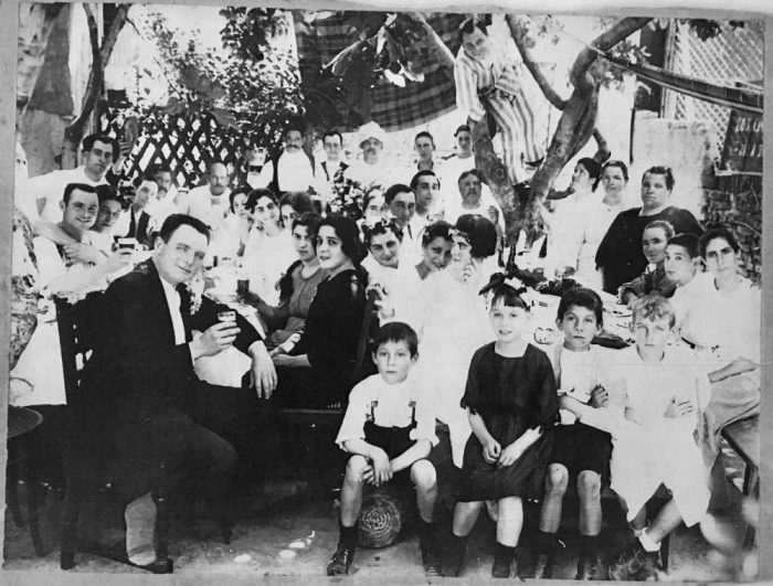 vintage photo from Argentina of a New Year's celebration