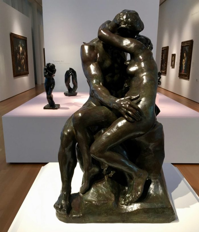 The Kiss, modeled 1881-1882, cast at a later date, by Auguste Rodin.