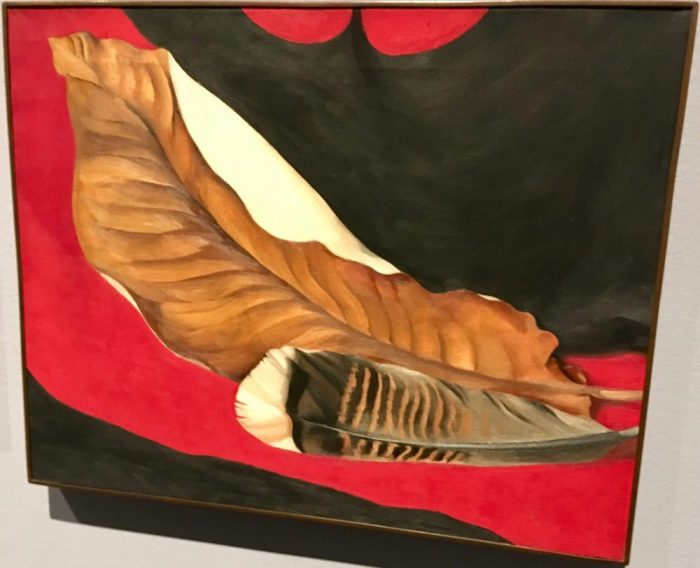 Feather and Brown Leaf, 1935, by Georgia O'Keeffe