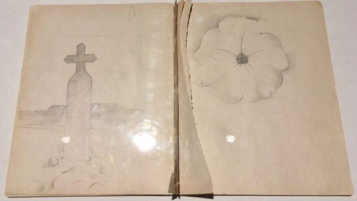 Georgia O'keeffe sketchbook
