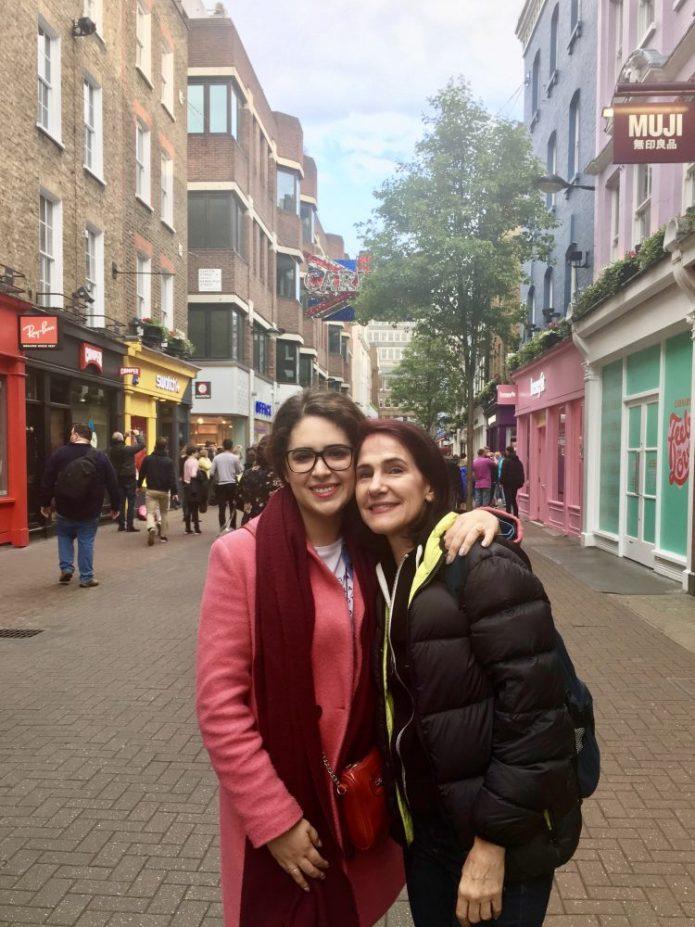 Enjoying London with dear cousin Giulia!