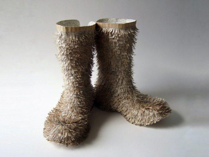 """Hobo – Homeward Bound,"" boots, 2012."