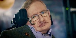 Stephen Hawking, in this April 10, 2018 interview for Smithsonian Channel. It was one of the last times he appeared on-camera. His message was that we (Earthlings) need to colonize another planet.