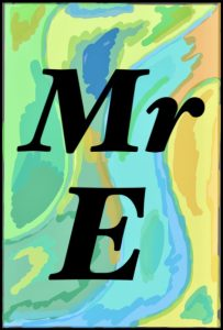 Mr E's signature for his books started with his original iPad artwork.