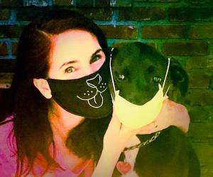 da-AL social distancing with K-D doggie.