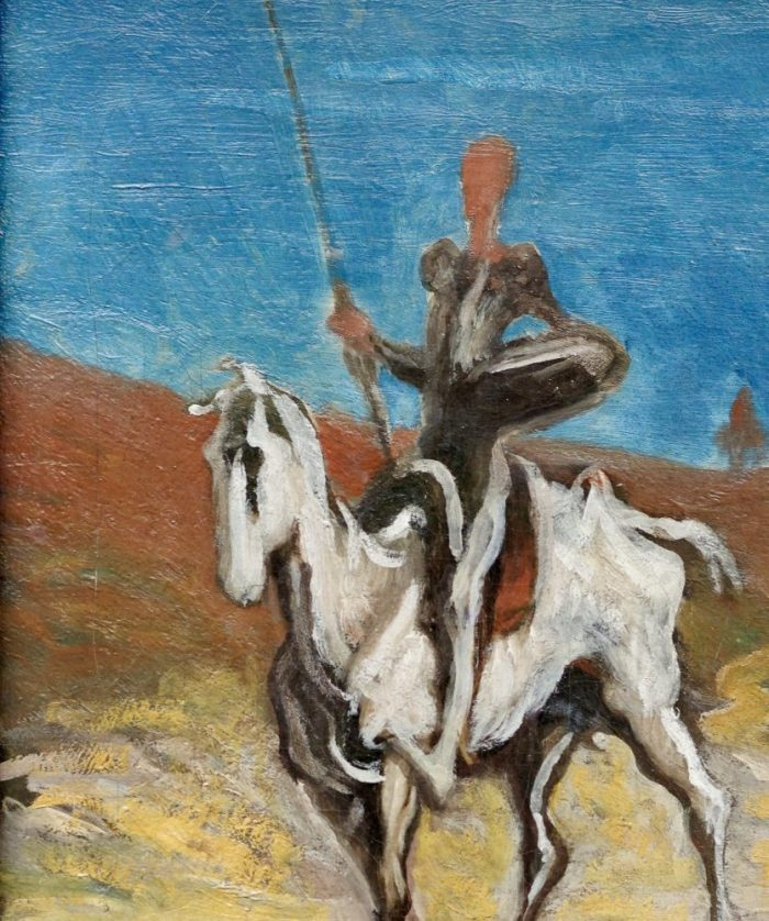 Painting of Don Quixote and Sancho Pansa by Honore Daumier