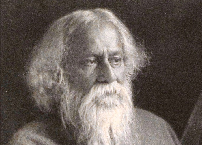 Tagore (c. 1925), by unknown author, State Archive, Public Domain, https://commons.wikimedia.org/w/index.php?curid=47866012