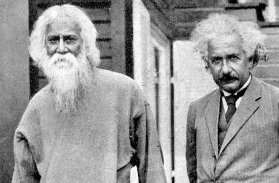 Rabindranath with Einstein in 1930, vy UNESCO - UNESCO Gallery, Public Domain, https://commons.wikimedia.org/w/index.php?curid=27489646
