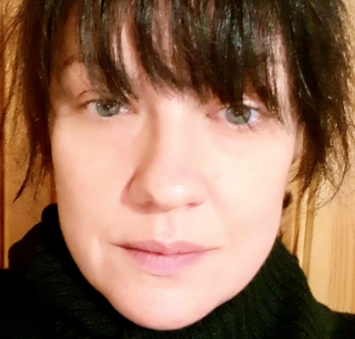 Self-photo of writer/poet/blogger Jenny Irene Gunnarsson.