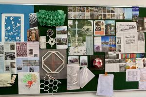 Architecture faculty at Ansal University in Gurgaon's news bulletin board.
