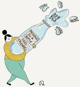 """Fiona's illustration of """"eau de marketing"""" trends makes me smile."""